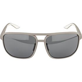 100% Konnor Aviator Square Glasses soft tact dark haze/smoke